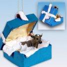 BGBA38 Guernsey Bull Blue Gift Box Ornament
