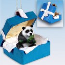 BGBA04 Panda Blue Gift Box Ornament