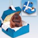 BGBA15 Orangutan Blue Gift Box Ornament