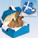 BGBA18 Camel, Bactrian Blue Gift Box Ornament