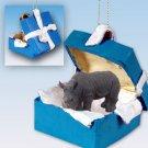 BGBA24 Rhinoceros Blue Gift Box Ornament