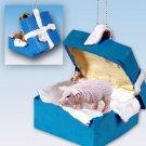 BGBA47 Pig, Pink Blue Gift Box Ornament