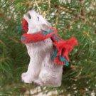 ATX61B Wolf, Gray Christmas Ornament
