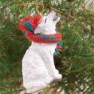 ATX79 Wolf, White Christmas Ornament