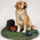 DFL09:1 Golden Retriever with Stump My Dog Figurine