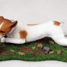 DFL105C Jack Russell Terrier Smooth Coat Brown & White with Ball My Dog Figurine
