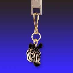 AHZ26 Zebra Zipper Charm