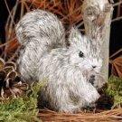 AFF30B Squirrel Gray Fur Figurine