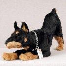 DFFL25A Doberman Black My Dog Fur Figurine