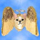 DHAM06B Chihuahua, Tan & White Angel Magnet