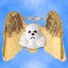 DHAM104A Poodle, White, Sport cut Angel Magnet