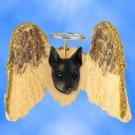 DHAM25A Doberman, Black Angel Magnet