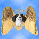 DHAM27A Brittany, Liver & White Angel Magnet