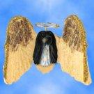 DHAM28A Afghan Black & White Angel Magnet