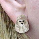 DHE01B Poodle Gray Earring Post