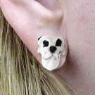 DHE100C Great Dane, Harlequin Uncropped Earrings Post