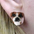 DHE102A Boxer Natural ears Earring Post