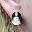 DHE110A Japanese Chin Black & White Earring Post