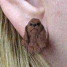 DHE15A Cocker Brown Earrings Post