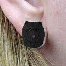 DHE21A Chow Black Earrings Post