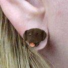 DHE24C Lab Ret Choc Earrings Post