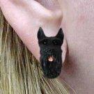 DHE58B Giant Schnauzer Black Earrings Post
