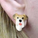 DHE59 Wirehaired Fox Terrier Earrings Post