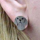 DHE68 Weimaraner Earrings Post
