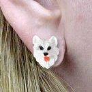 DHE82 American Eskimo Earrings Post