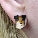 DHE99B Australian Shepherd Blue Earrings Posts