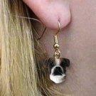 DHEH102C Boxer Brindle Uncropped Earrings Hanging