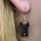 DHEH13A Schnauzer Black Earrings Hanging