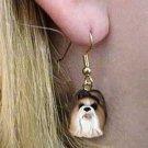 DHEH26B Shih Tzu Tan Earrings Hanging