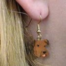 DHEH38 Airedale Earrings Hanging