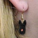 DHEH42 Scottish Terrier Earrings Hanging