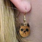 DHEH46A Brussels Griffon Red Earrings Hanging