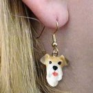 DHEH59 Wirehaired Fox Terrier Earrings Hanging