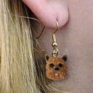 DHEH79 Norwich Terrier Earrings Hanging