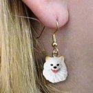 DHEH83 American Eskimo Min Earrings Hanging
