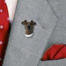 DHP50A Fox Terrier Brown & White Pin