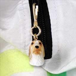 DHZ113 Petit Bassett Griffon Vendeen Zipper Charm