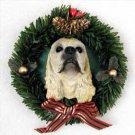 DPX15C Cocker Spaniel Blonde Wreath Ornament