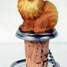 DTB03A Pomeranian, Red Bottle Stopper