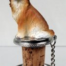 DTB123 Chihuahua, Long Haired Bottle Stopper