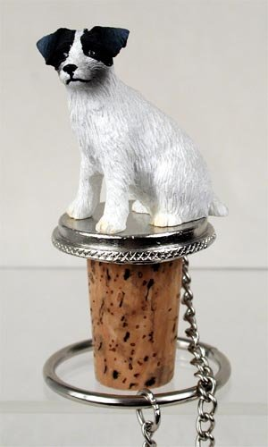 DTB63B Jack Russell Terrier, Black & White, Rough Coat Bottle Stopper