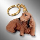 DTK60A Dachshund, Longhaired, Red Keychain