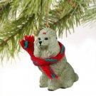DTX01B Poodle, Gray Christmas Ornament