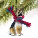 DTX08A German Shepherd, Tan & Black Christmas Ornament