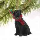 DTX100A Great Dane, Black, Uncropped Christmas Ornament