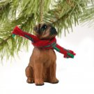 DTX102B Boxer, Tawny, Uncropped Christmas Ornament